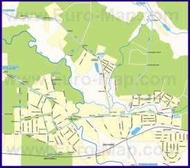 Карта маршрутов транспорта Ивантеевки