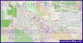Подробная карта города Ивантеевка