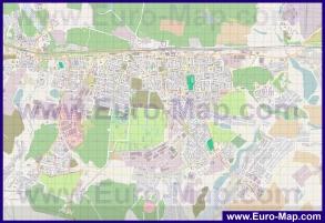 Подробная карта города Железнодорожный