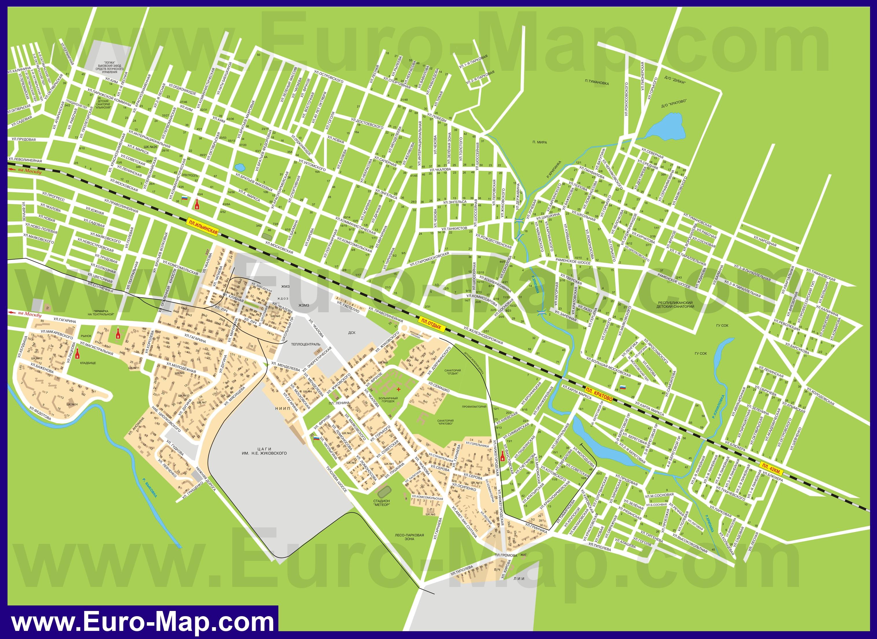 Схема города жуковский