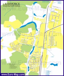 Карта маршрутов транспорта Климовска