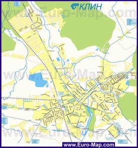 Карта маршрутов транспорта Клина