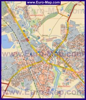 Подробная карта города Клин