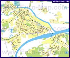 Карта маршрутов транспорта Коломны