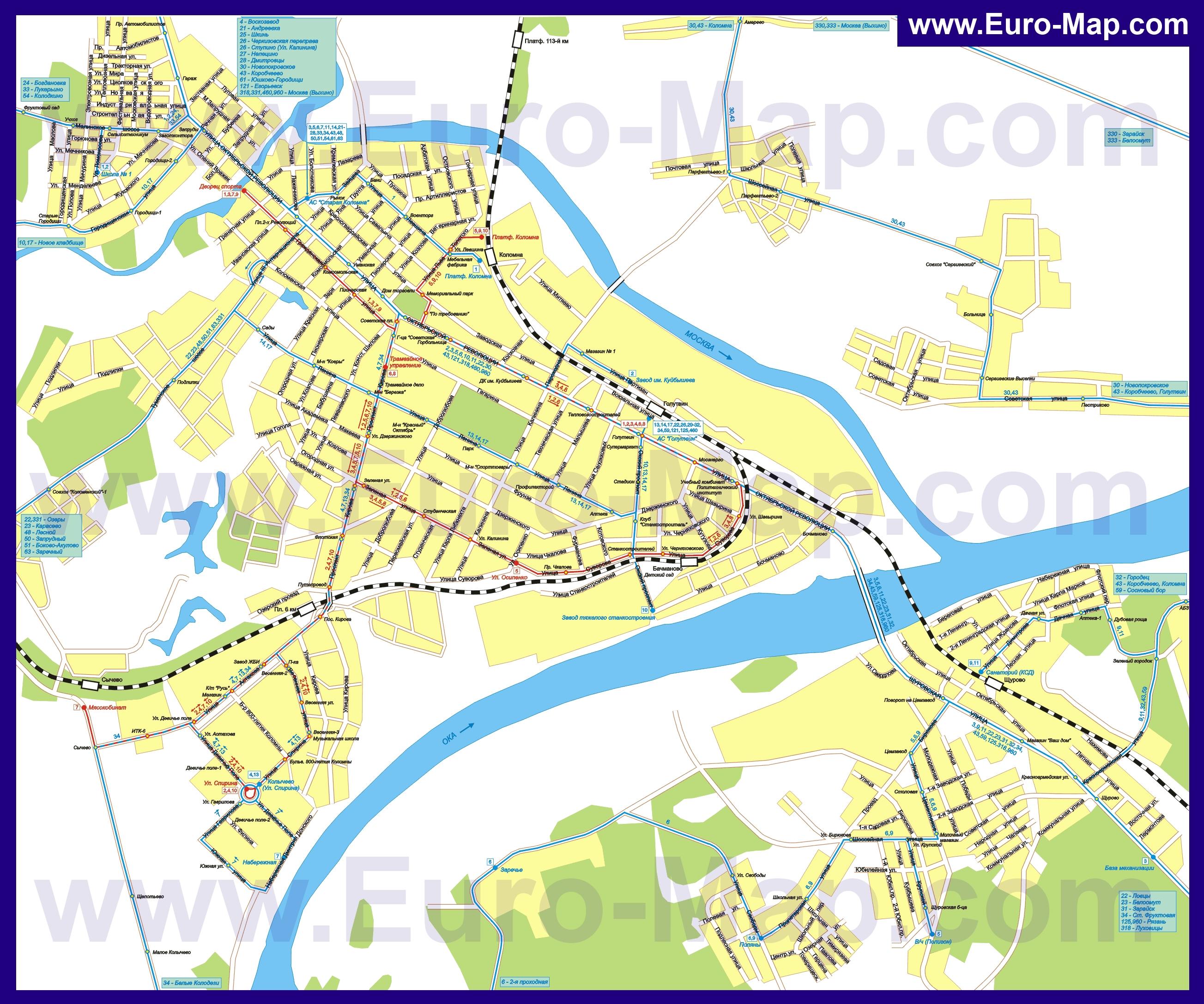 Спутниковая Карта Воскресенского Района