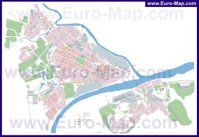 Подробная карта города Коломна