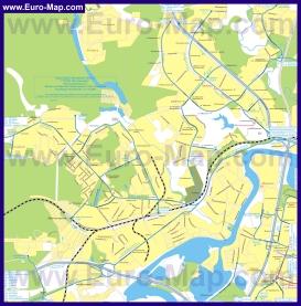 Карта маршрутов транспорта Красногорска