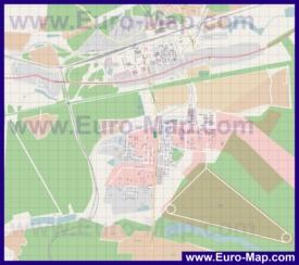 Подробная карта города Кубинка