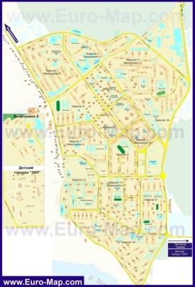 Подробная карта города Лыткарино