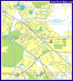 Карта маршрутов транспорта Люберец