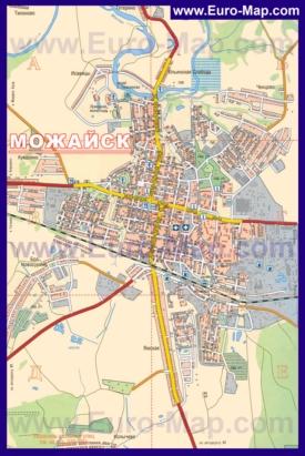 Подробная карта города Можайск
