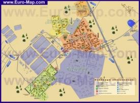 Подробная карта города Московский