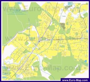 Карта маршрутов транспорта Мытищ