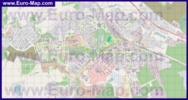 Подробная карта поселка Нахабино