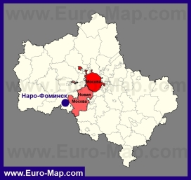Наро-Фоминск на карте Московской области