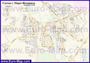 Подробная карта города Наро-Фоминск
