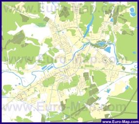 Карта маршрутов транспорта Ногинска