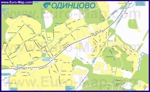 Карта маршрутов транспорта Одинцово