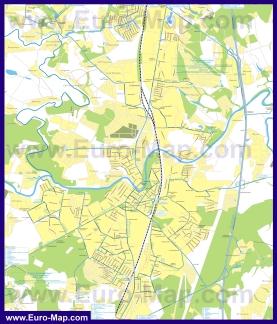 Карта маршрутов транспорта Подольска