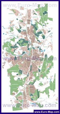 Подробная карта города Подольск