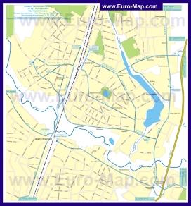 Карта маршрутов транспорта Пушкино