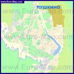 Подробная карта города Пушкино
