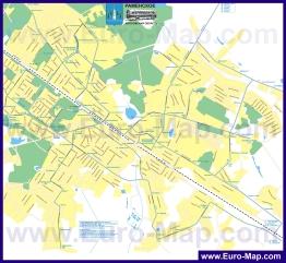 Карта маршрутов транспорта Раменского