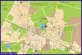 Подробная карта города Раменское