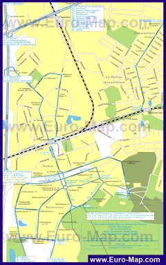 Карта маршрутов транспорта Реутова