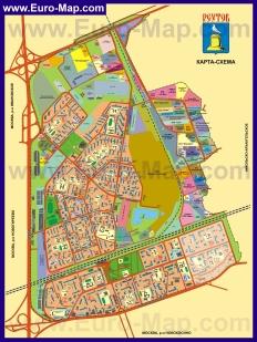 Подробная карта города Реутов
