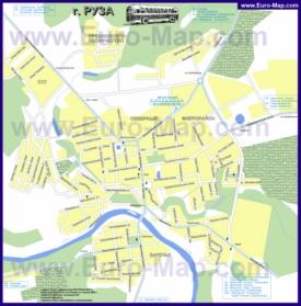 Карта маршрутов транспорта Рузы