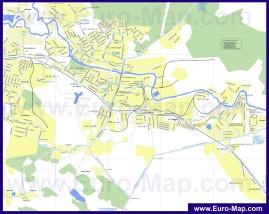 Карта маршрутов транспорта Щёлково