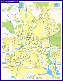 Карта маршрутов транспорта Сергиева Посада