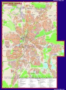 Подробная карта города Сергиев Посад