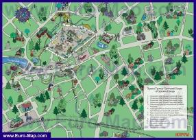 Туристическая карта Сергиева Посада