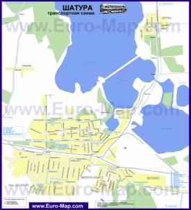 Карта маршрутов транспорта Шатуры