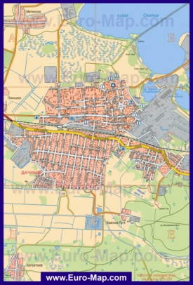 Подробная карта города Шатура