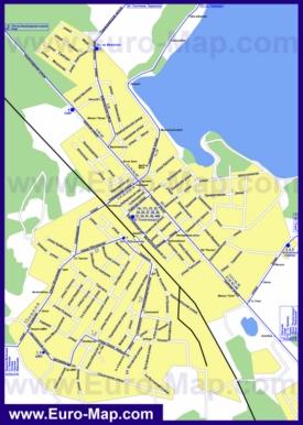 Карта маршрутов транспорта Солнечногорска