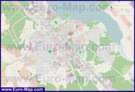 Подробная карта города Солнечногорск