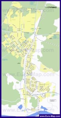 Карта маршрутов транспорта Ступино