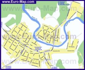 Карта маршрутов транспорта Вереи