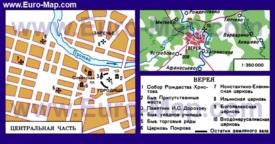 Туристическая карта Вереи с достопримечательностями