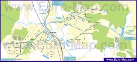 Карта маршрутов транспорта Видного