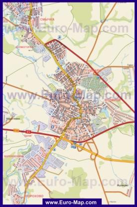 Подробная карта города Волоколамск