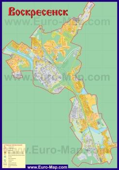 Подробная карта города Воскресенск