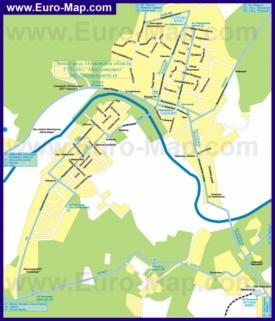 Карта маршрутов транспорта Звенигорода