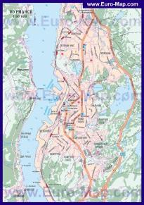 Автомобильная карта дорог Мурманска