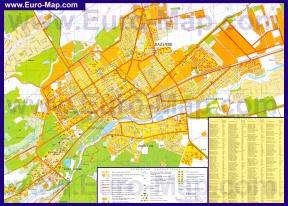 Подробная карта города Нальчик