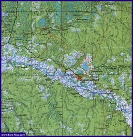 Карта Нижневартовска с окрестностями