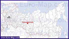 Нижневартовск на карте России